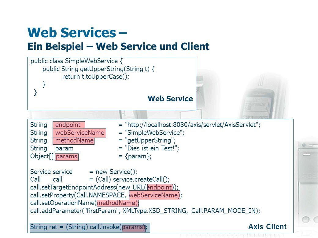 Web Services – Ein Beispiel – Web Service und Client