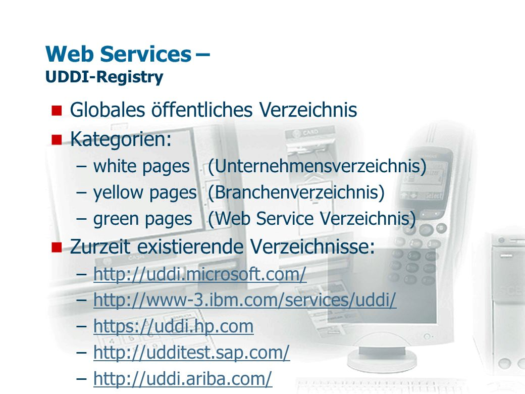 Web Services – UDDI-Registry