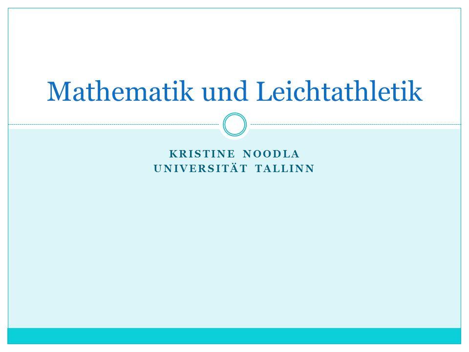 Mathematik und Leichtathletik