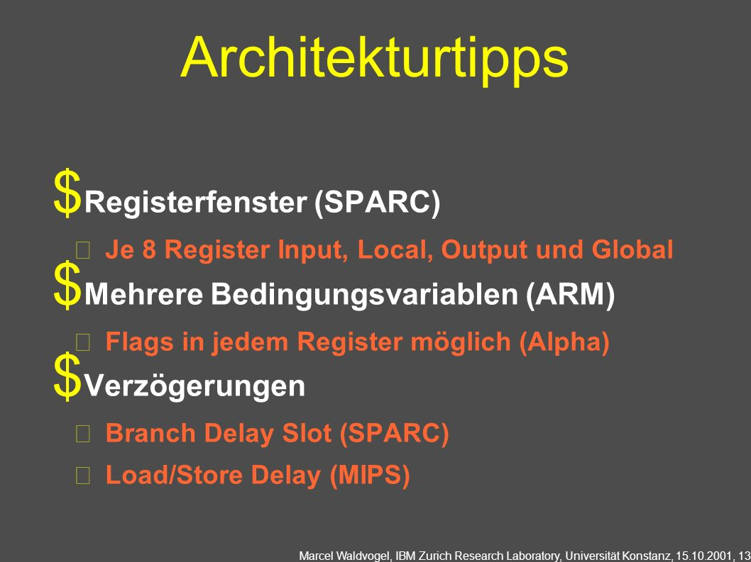 Architekturtipps Registerfenster (SPARC)