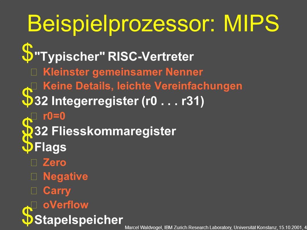 Beispielprozessor: MIPS