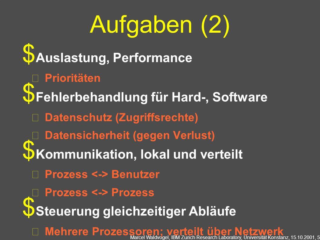 Aufgaben (2) Auslastung, Performance