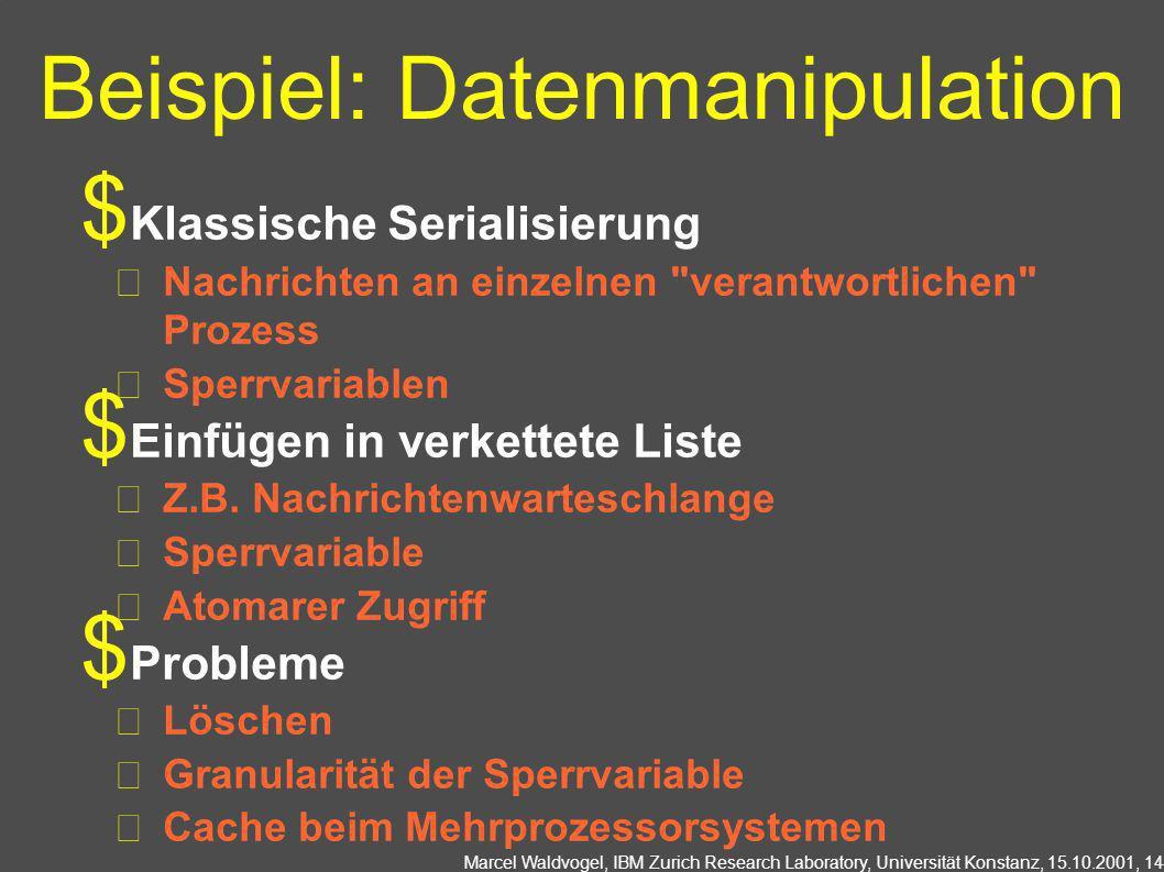 Beispiel: Datenmanipulation