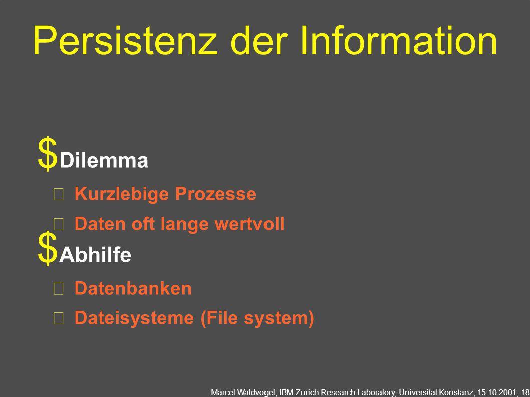 Persistenz der Information