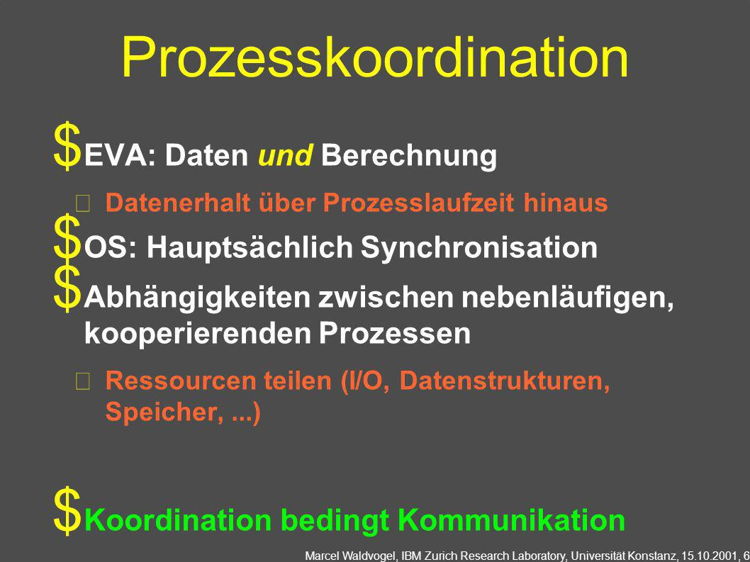 Prozesskoordination EVA: Daten und Berechnung