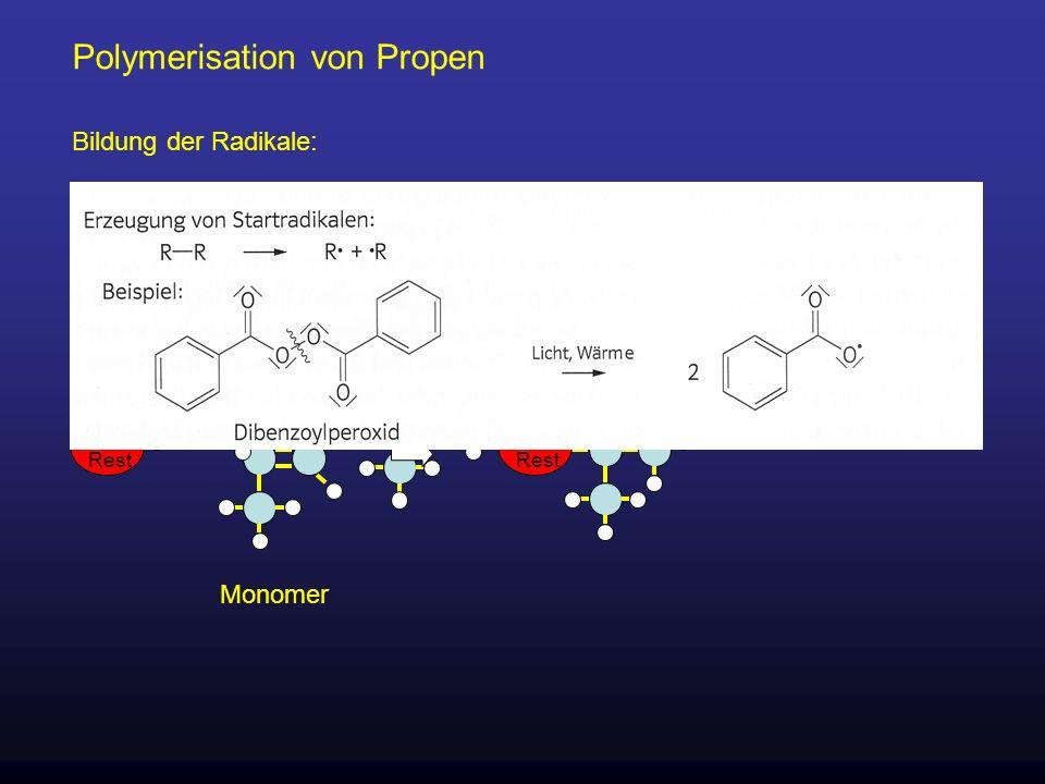 Polymerisation von Propen