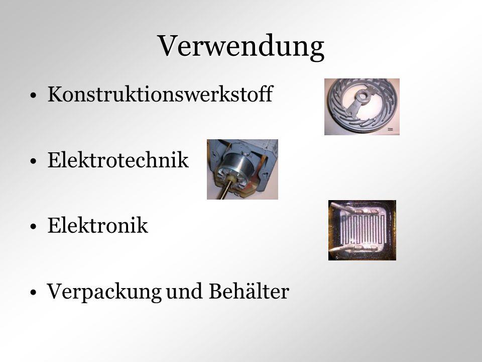 Verwendung Konstruktionswerkstoff Elektrotechnik Elektronik