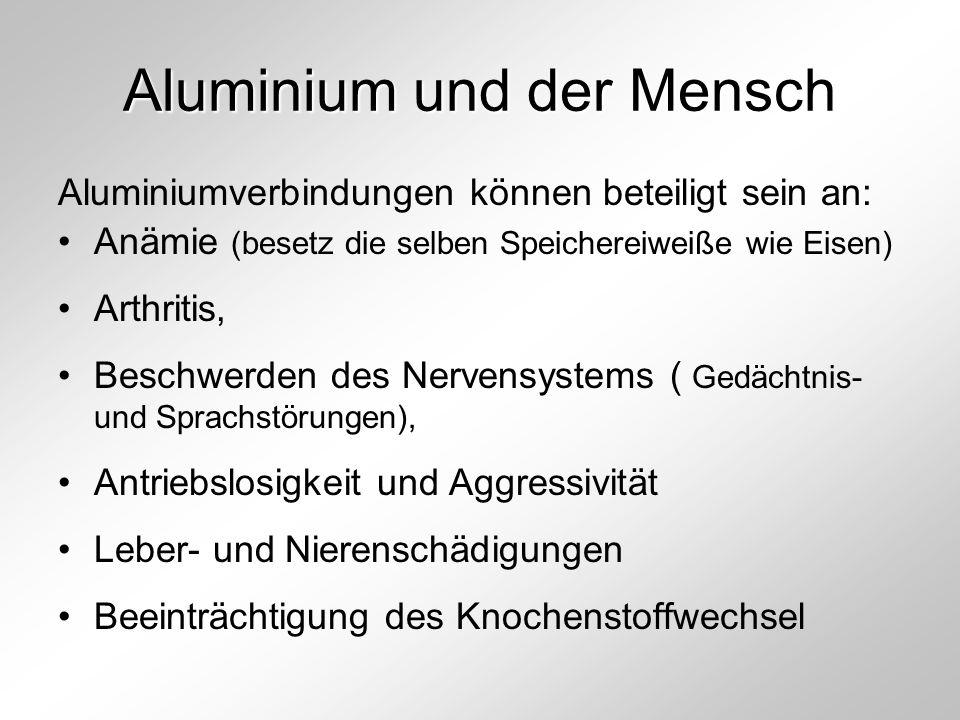 Aluminium und der Mensch