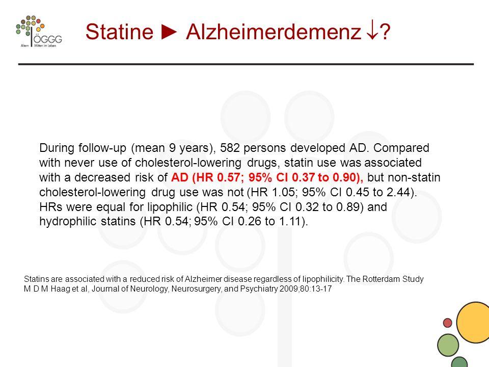 Statine ► Alzheimerdemenz 
