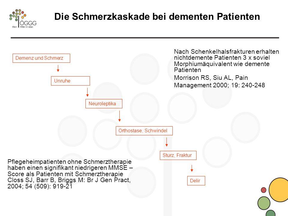 Die Schmerzkaskade bei dementen Patienten