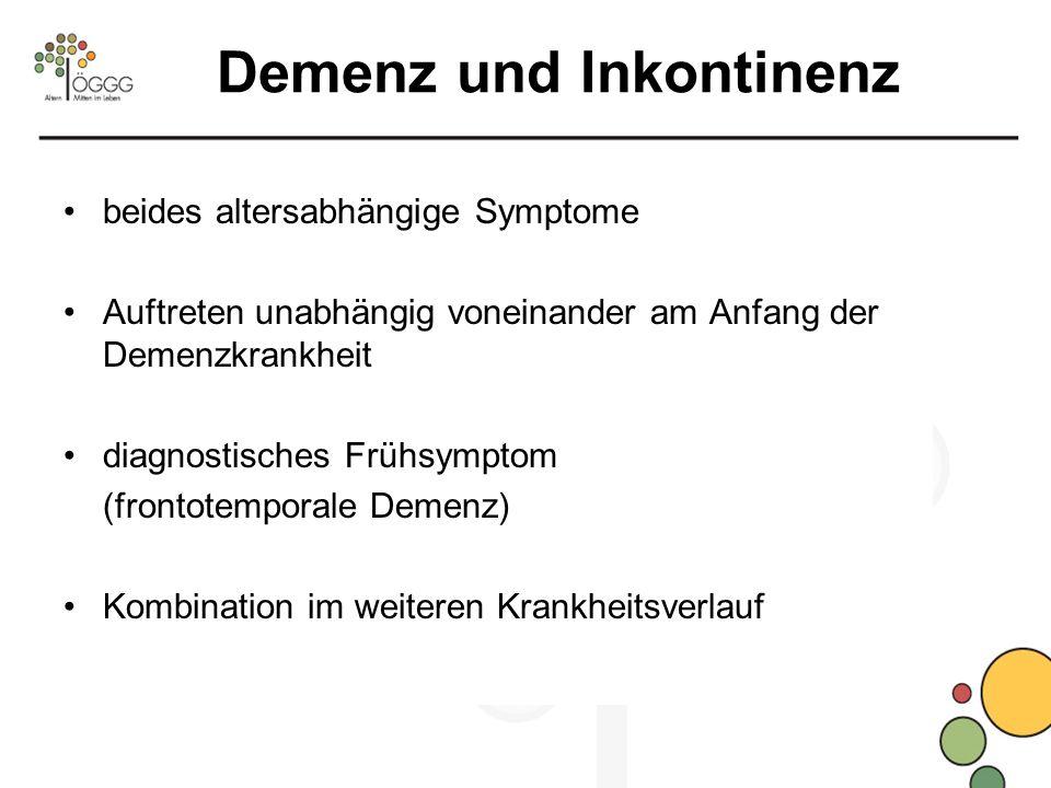Demenz und Inkontinenz