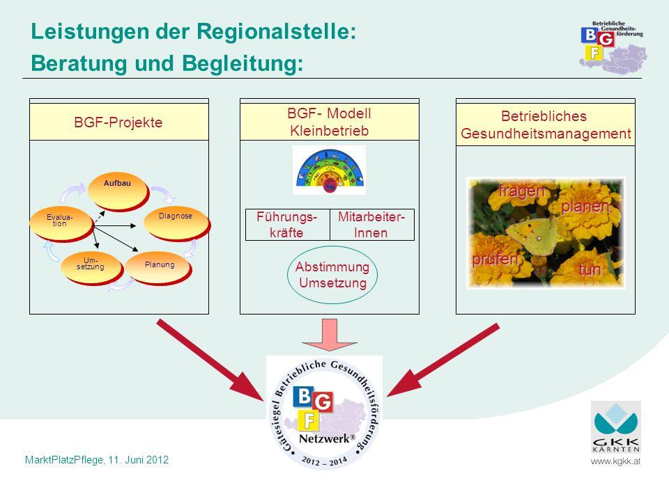 Leistungen der Regionalstelle: Beratung und Begleitung: