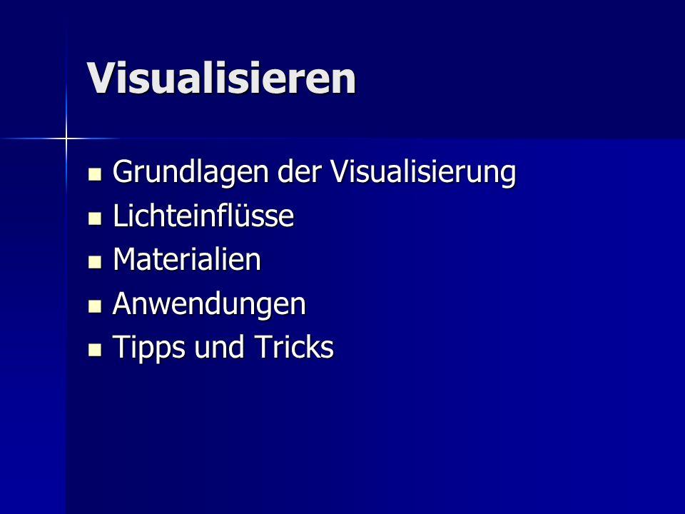 Visualisieren Grundlagen der Visualisierung Lichteinflüsse Materialien