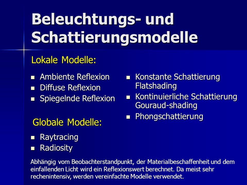 Beleuchtungs- und Schattierungsmodelle