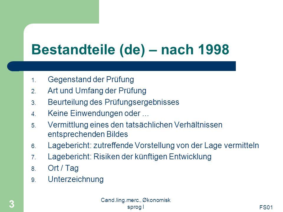 Bestandteile (de) – nach 1998