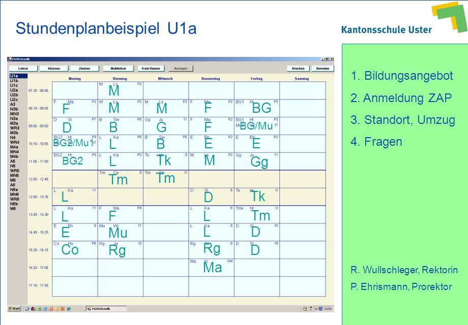 Stundenplanbeispiel U1a