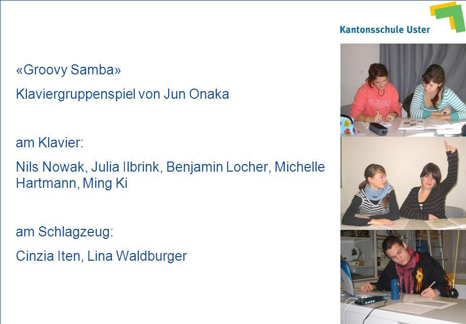 «Groovy Samba» Klaviergruppenspiel von Jun Onaka. am Klavier: Nils Nowak, Julia Ilbrink, Benjamin Locher, Michelle Hartmann, Ming Ki.