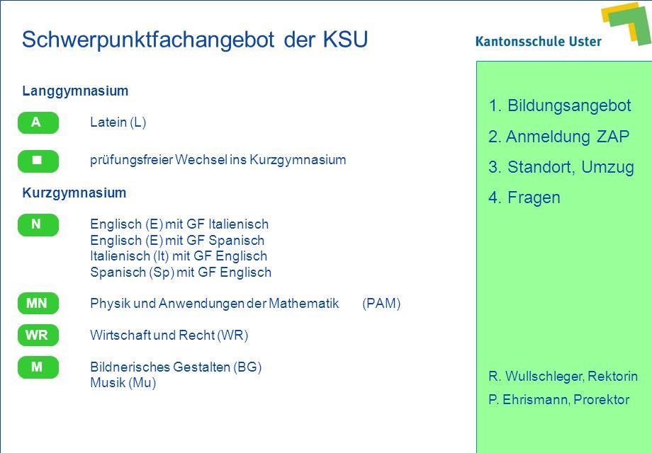Schwerpunktfachangebot der KSU
