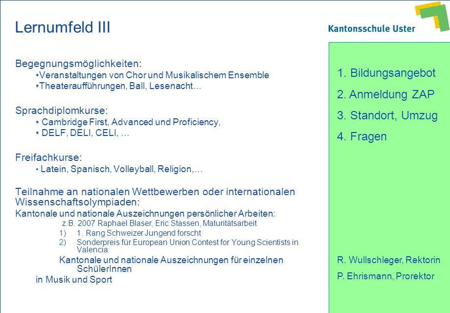 Lernumfeld III Begegnungsmöglichkeiten: Sprachdiplomkurse:
