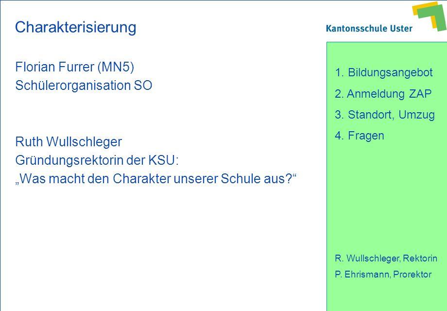 Charakterisierung Florian Furrer (MN5) Schülerorganisation SO
