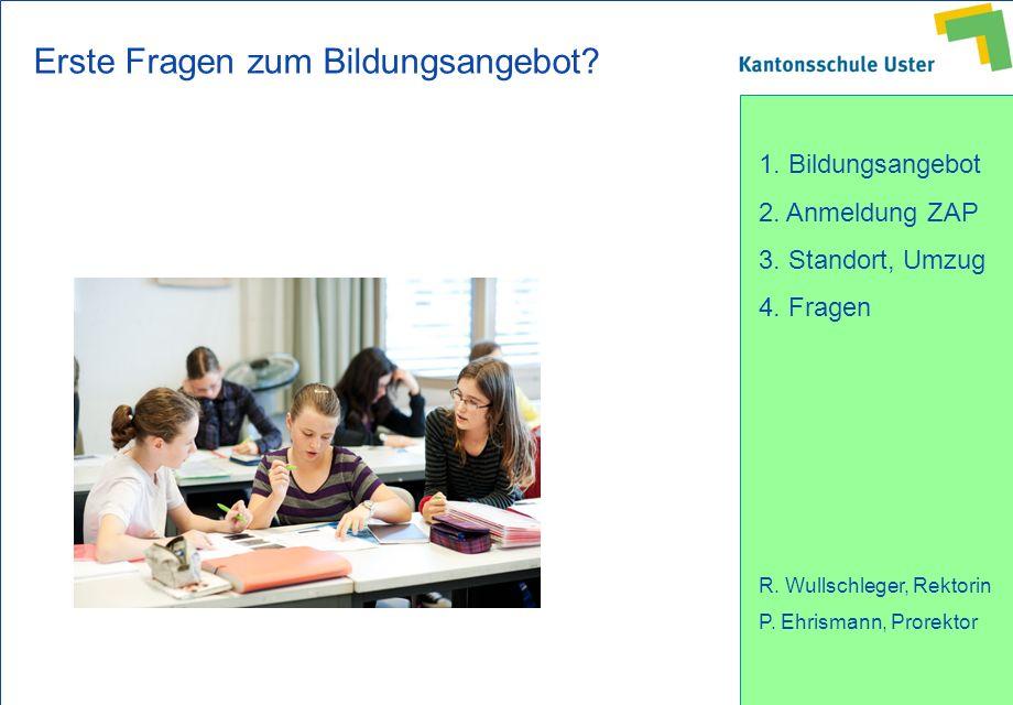 Erste Fragen zum Bildungsangebot