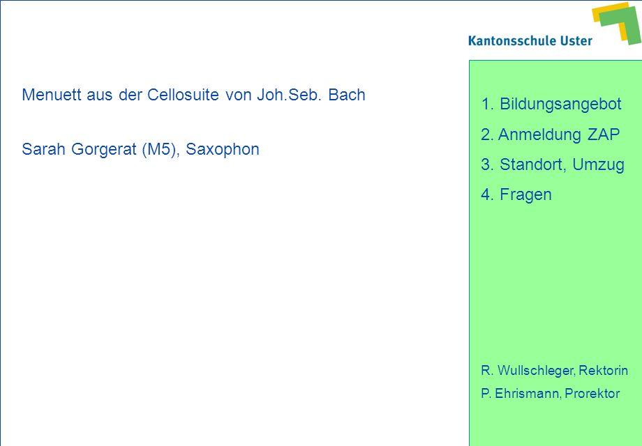 Menuett aus der Cellosuite von Joh.Seb. Bach