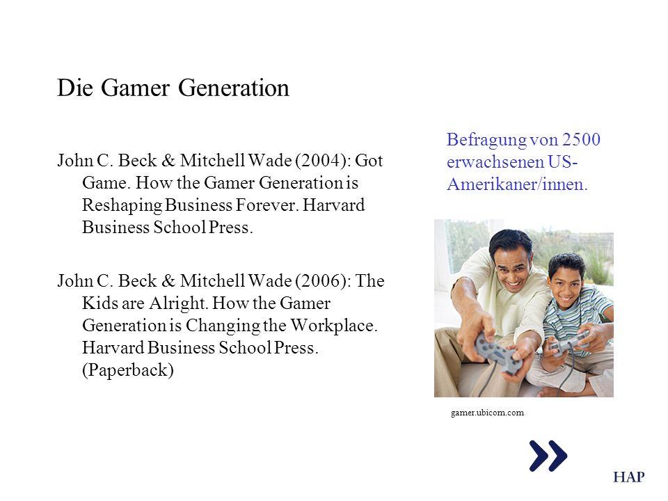 Die Gamer Generation Befragung von 2500 erwachsenen US-Amerikaner/innen.