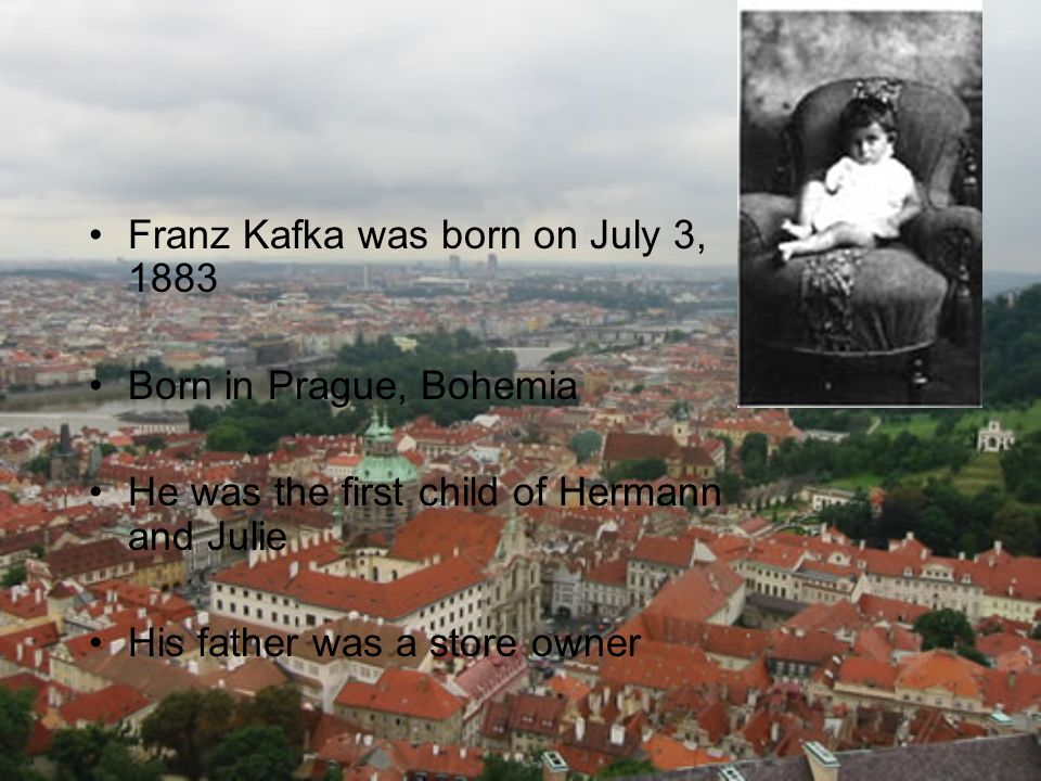 Franz Kafka was born on July 3, 1883