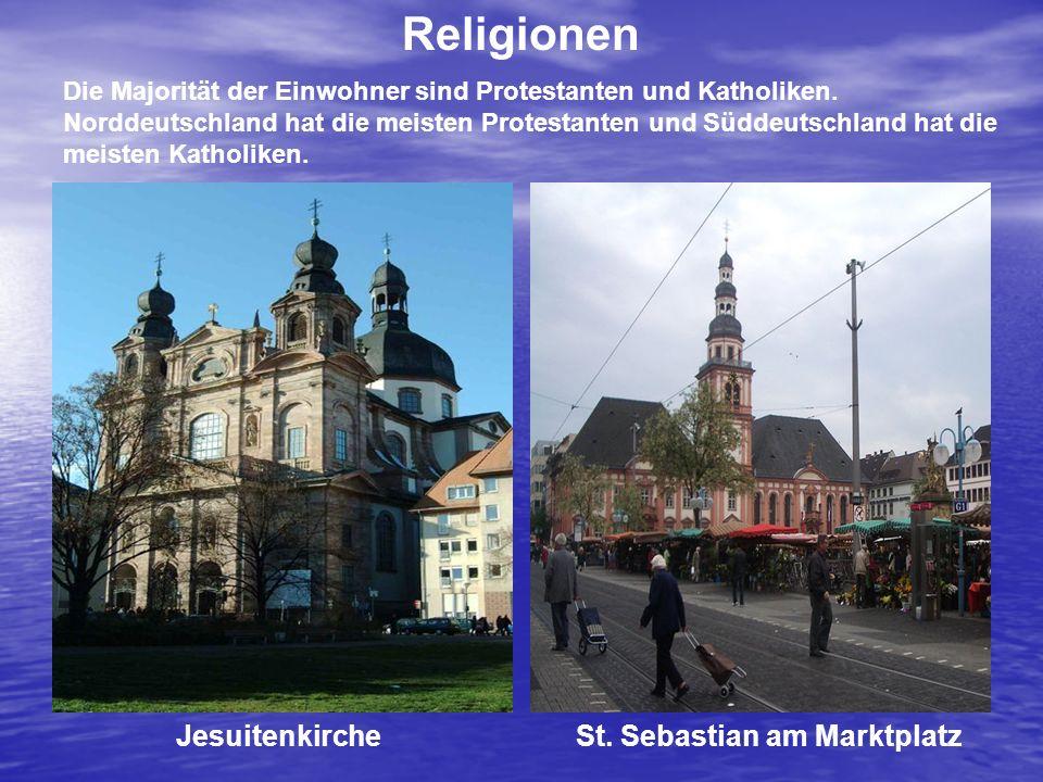 Religionen Jesuitenkirche St. Sebastian am Marktplatz
