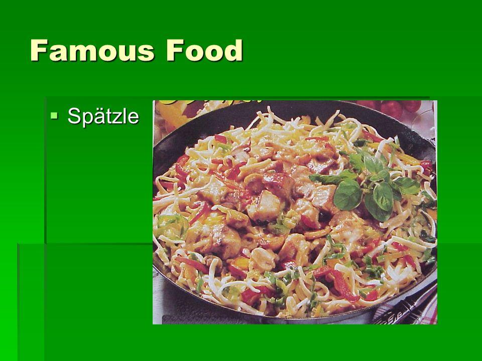 Famous Food Spätzle