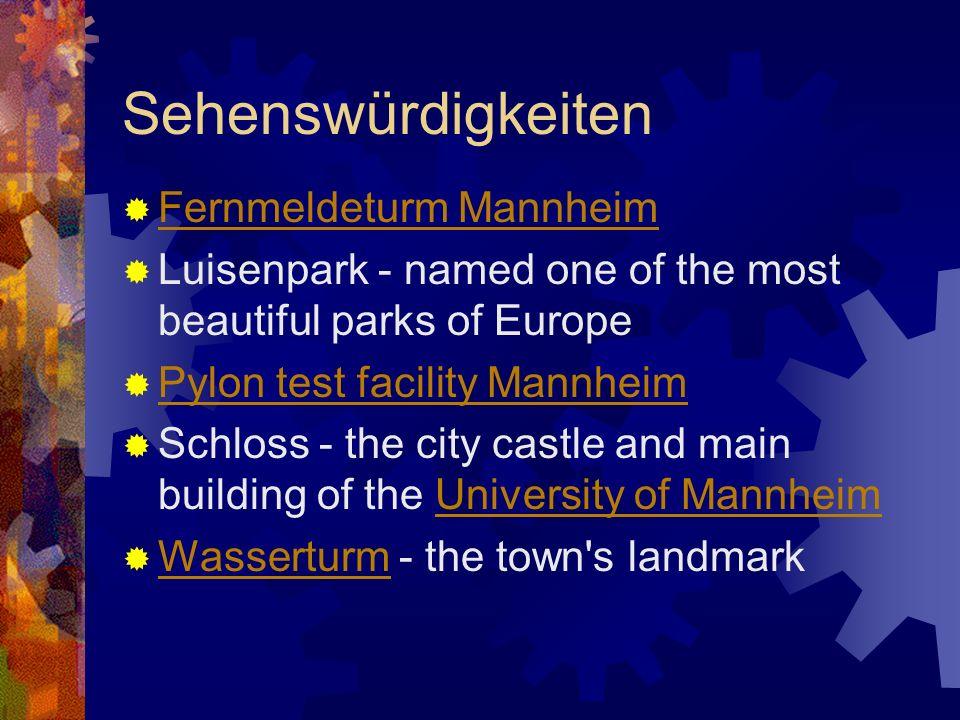 Sehenswürdigkeiten Fernmeldeturm Mannheim