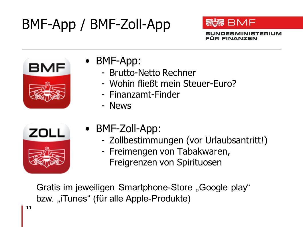 BMF-App / BMF-Zoll-App