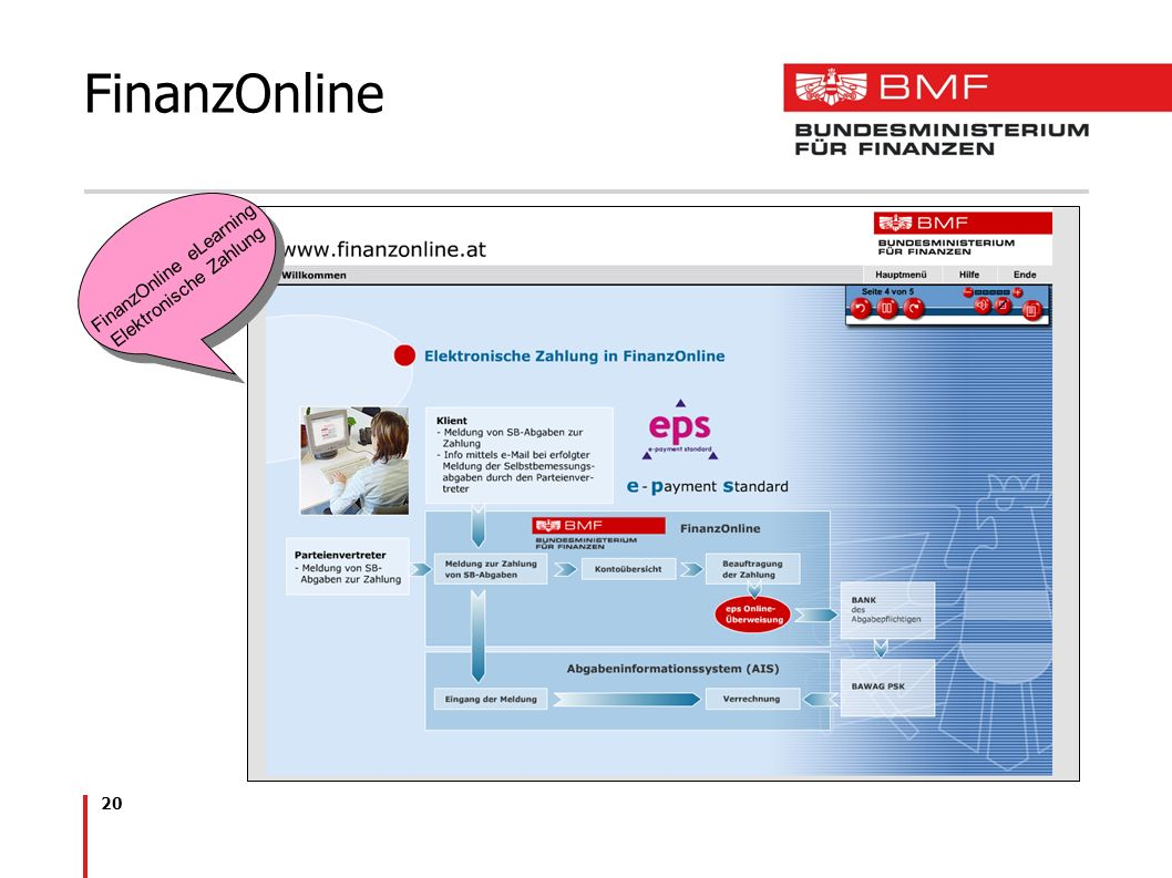 FinanzOnline eLearning Elektronische Zahlung