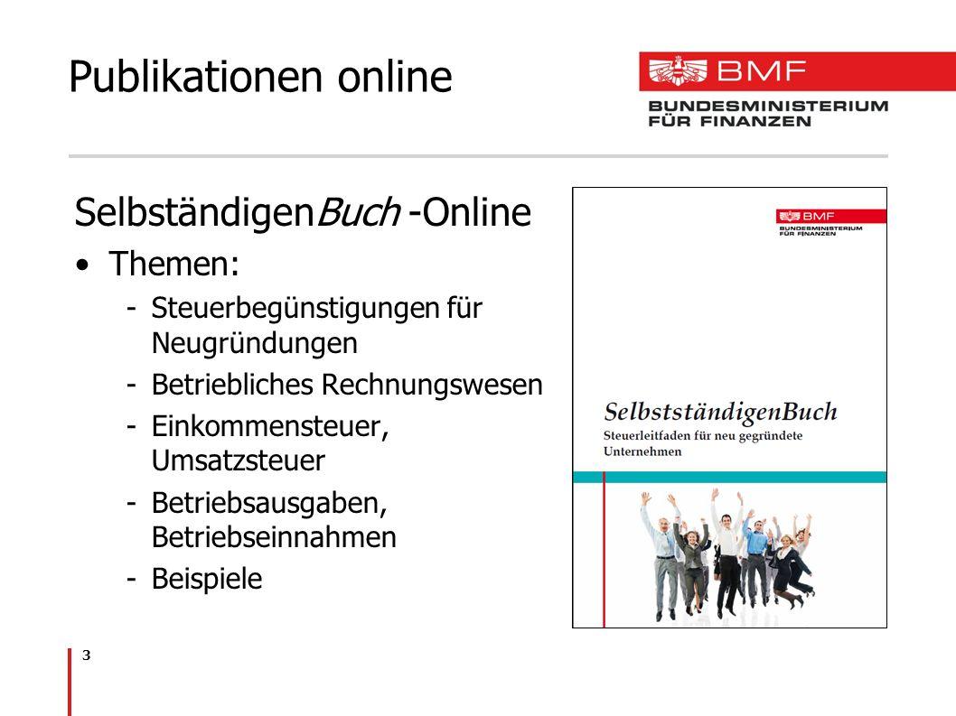 Publikationen online SelbständigenBuch -Online Themen: