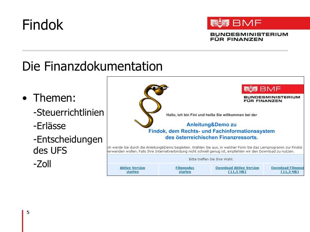 Findok Die Finanzdokumentation Themen: Steuerrichtlinien Erlässe