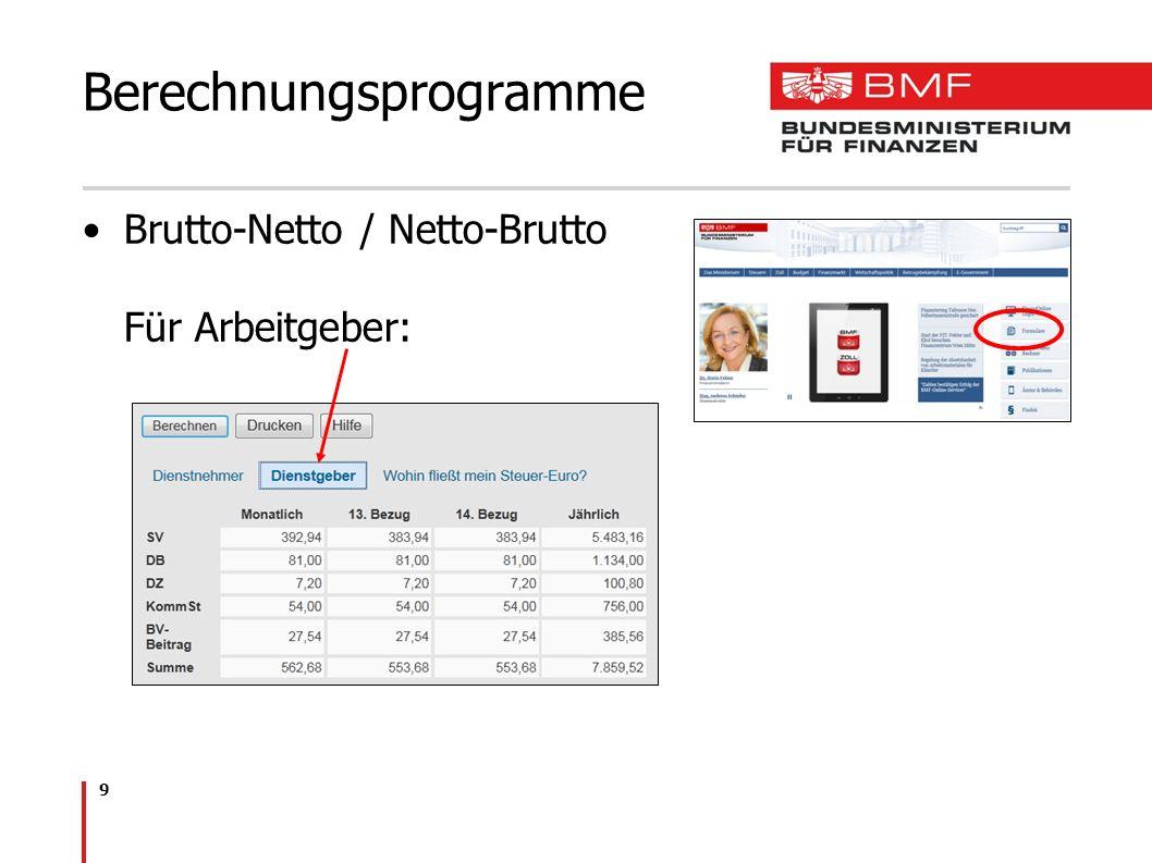 Berechnungsprogramme