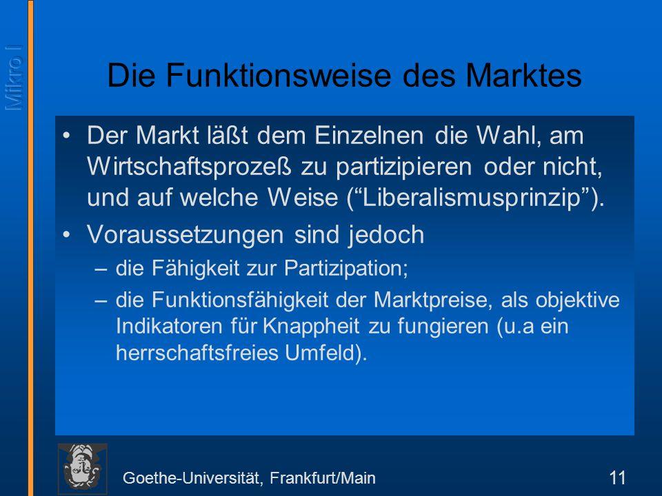 Die Funktionsweise des Marktes