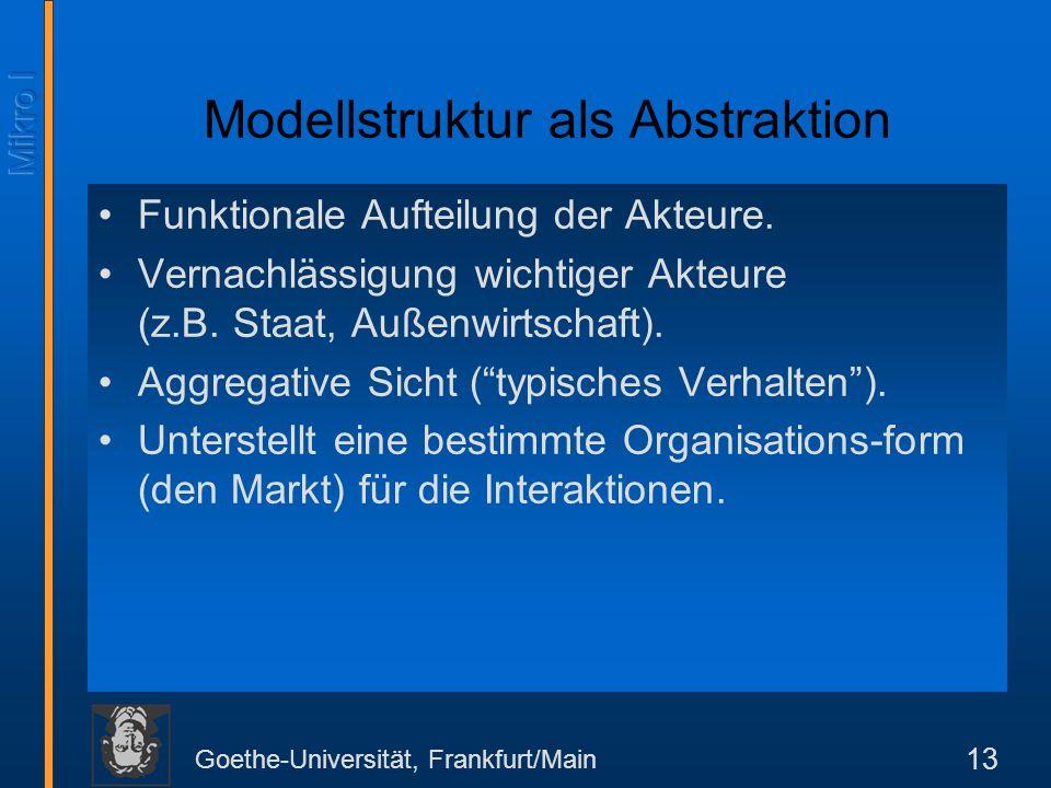 Modellstruktur als Abstraktion