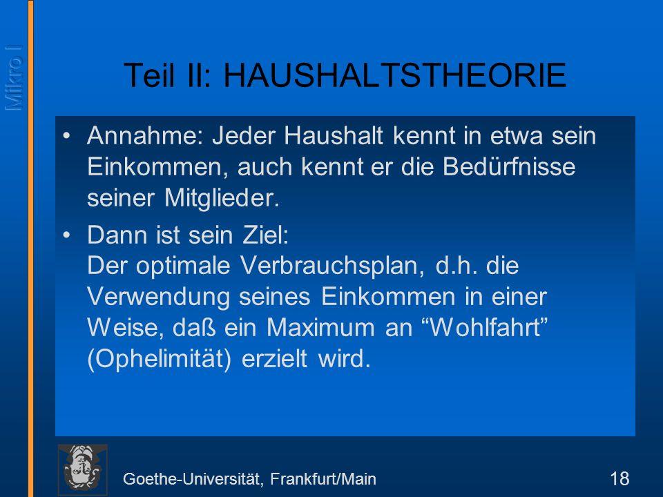 Teil II: HAUSHALTSTHEORIE