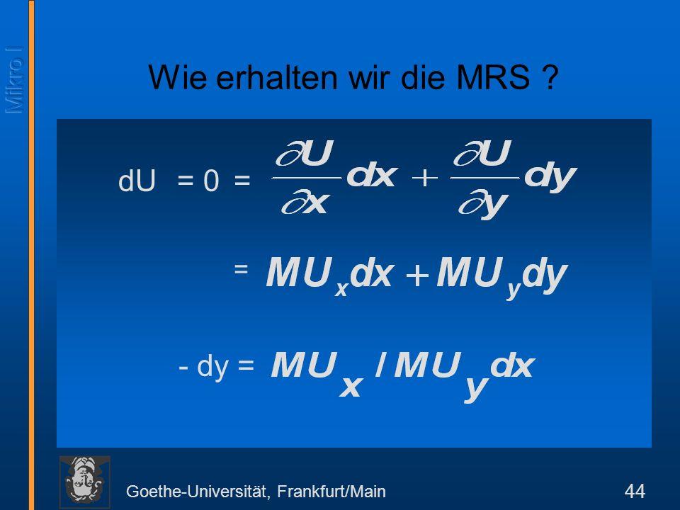 Wie erhalten wir die MRS