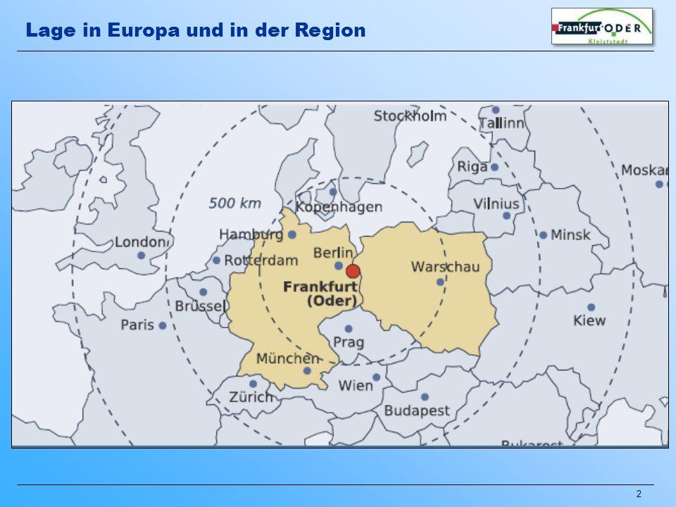 Lage in Europa und in der Region