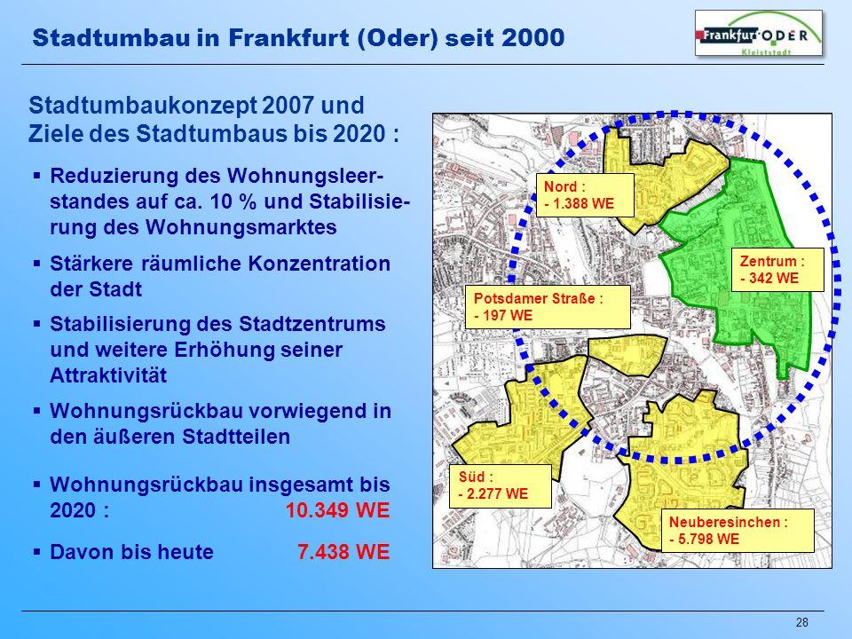 Stadtumbau in Frankfurt (Oder) seit 2000
