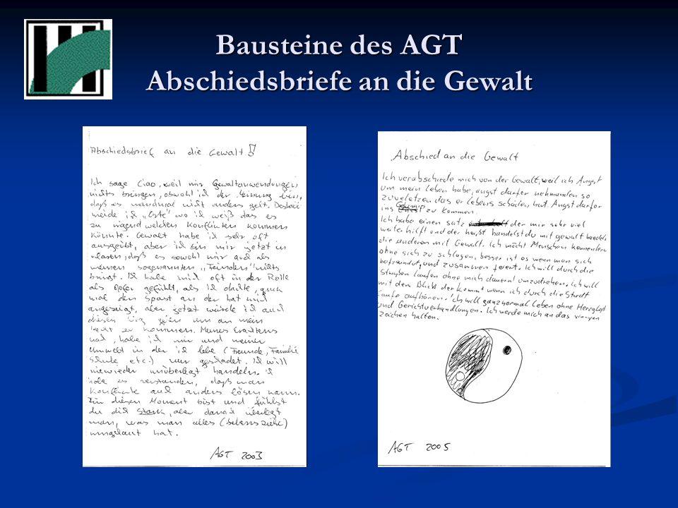 Bausteine des AGT Abschiedsbriefe an die Gewalt