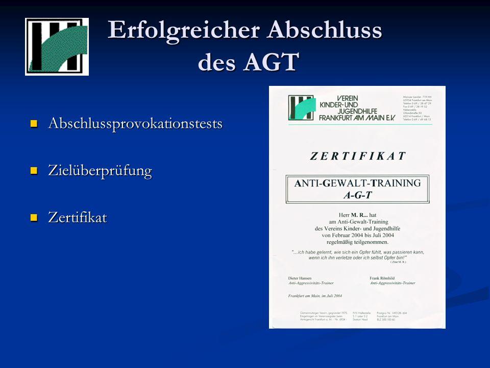 Erfolgreicher Abschluss des AGT