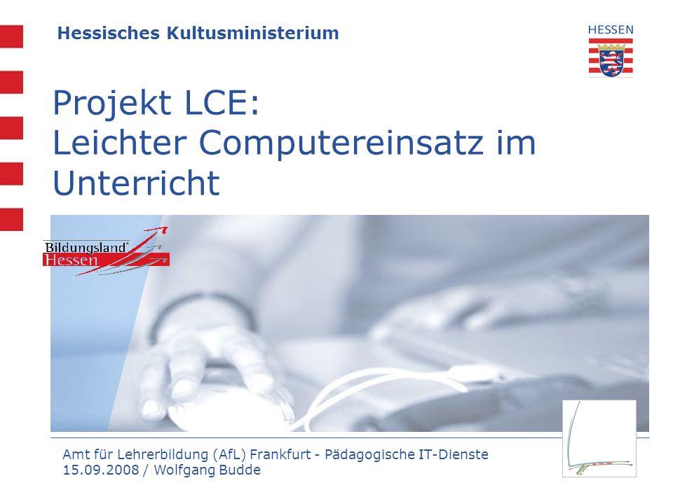 Projekt LCE: Leichter Computereinsatz im Unterricht