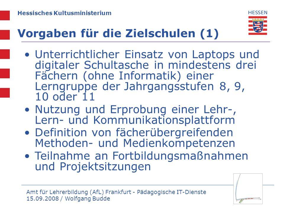 Vorgaben für die Zielschulen (1)