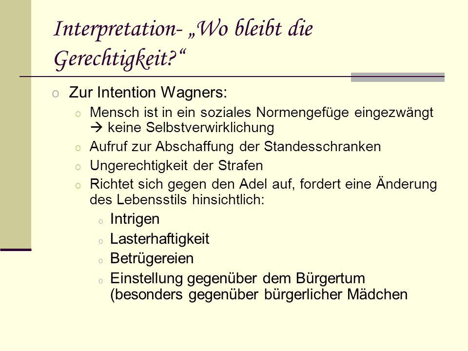 """Interpretation- """"Wo bleibt die Gerechtigkeit"""