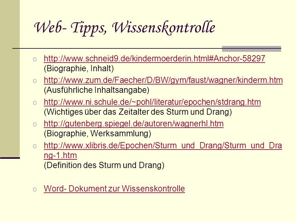 Web- Tipps, Wissenskontrolle