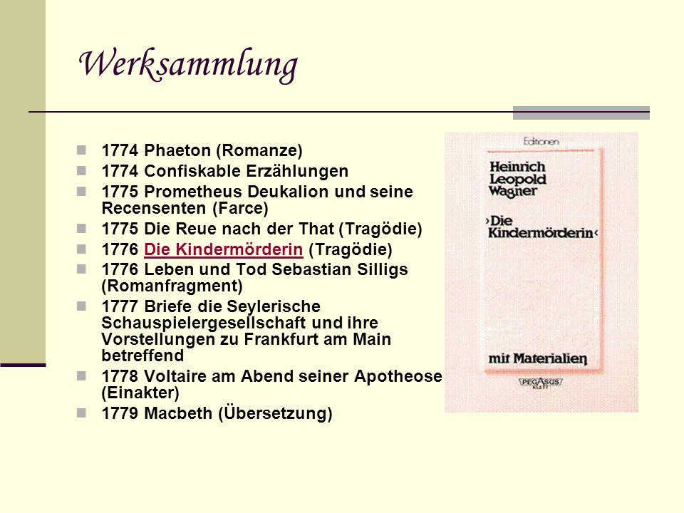Werksammlung 1774 Phaeton (Romanze) 1774 Confiskable Erzählungen