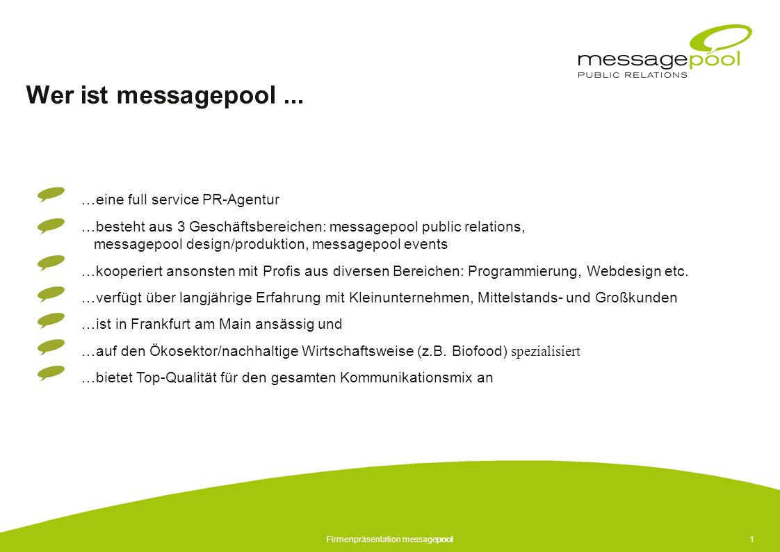 Firmenpräsentation messagepool